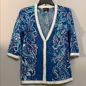 Bob Mackie Wearable Art Cardigan Size S Nice!!